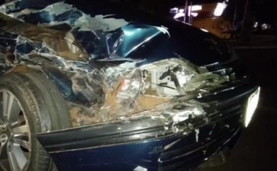 Mulher é presa por embriaguez ao volante após acidente de trânsito na avenida Brasil em Santa Helena