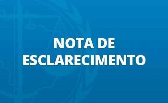 NOTA DE ESCLARECIMENTO: Do Governo do Estado sobre lockdown