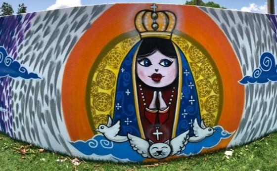 Oficina de Grafitagem é realizada em Itaipulândia