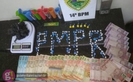 Operação da Polícia Militar realiza prisões por tráfico e apreende drogas e dinheiro em Medianeira