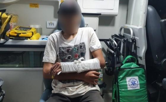 Pai procura condutor de veículo que atropelou seu filho em Santa Helena