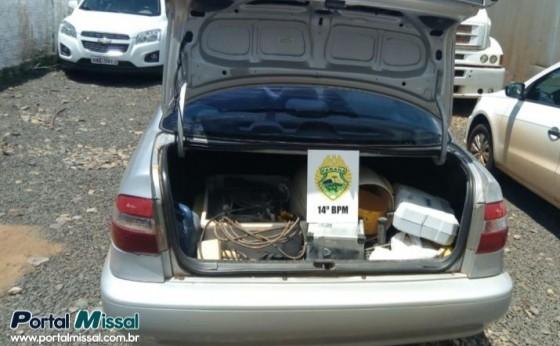 PM recupera Corolla roubado em São Miguel do Iguaçu