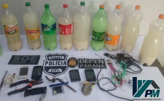 Polícia apreende celulares e objetos proibidos em carceragem da Delegacia de São Miguel