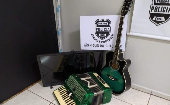 Polícia Civil recupera objetos furtados em Missal
