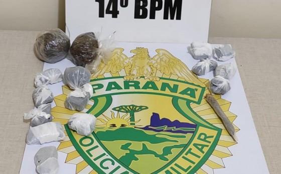 Policia Militar de Itaipulândia  aborda adolescente e mulher com drogas prontas para venda