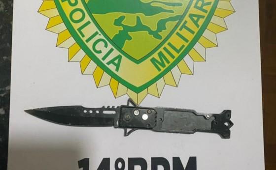 Polícia Militar de Itaipulândia apreende adolescente que portava canivete em colégio