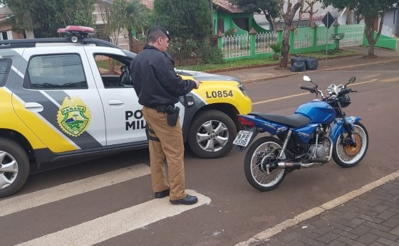 Policia Militar de Itaipulândia intensifica abordagens a motocicletas barulhentas