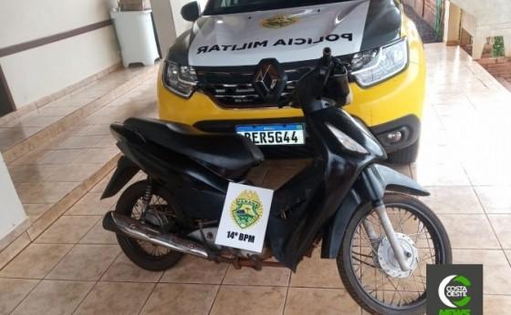 Polícia Militar de Itaipulândia recupera Honda Biz furtada em SMI