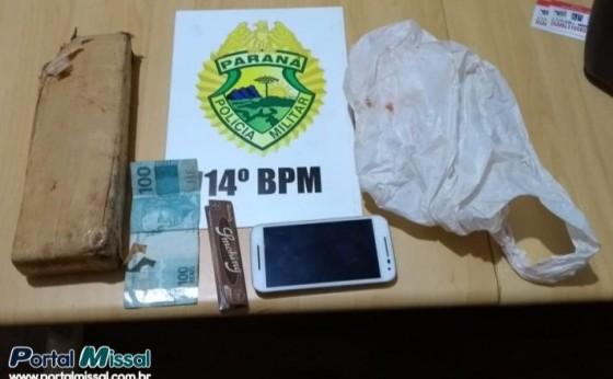 Policia Militar de Missal apreende drogas e prende duas pessoas em Dom Armando