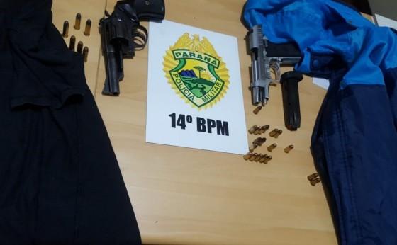 Polícia Militar de Missal apreende duas armas e conduz indivíduos à Delegacia