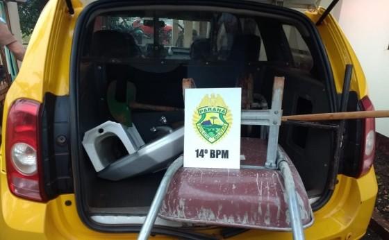 Polícia Militar de Missal recupera objetos furtados em Itaipulândia