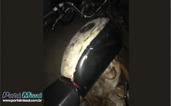 Policia Militar de Missal recupera moto furtada e prende individuo por receptação