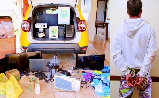 Polícia Militar recupera objetos furtados em Itaipulândia