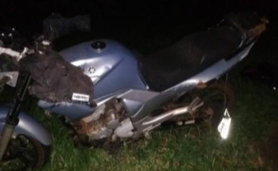 PRE registra acidente envolvendo carro e moto na PR 497 em Itaipulândia