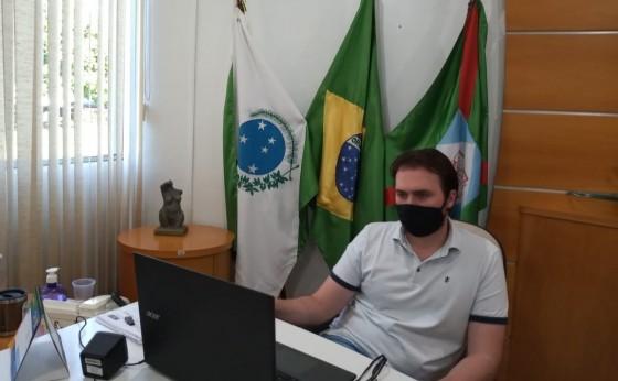 Prefeitos da Amop discutem o agravamento da pandemia na região Oeste