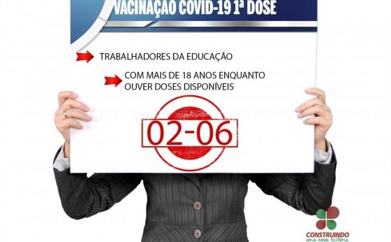 Profissionais da Educação de Missal terão campanha de vacinação da 1ª dose contra Covid-19 amanhã