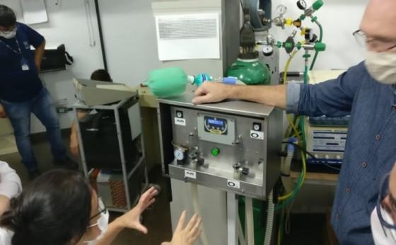 Respirador fabricado no oeste com o apoio do PTI e Itaipu seguirá para validação na cidade de Recife