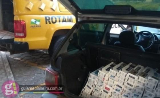 ROTAM apreende veículo com cigarros contrabandeados em Itaipulândia