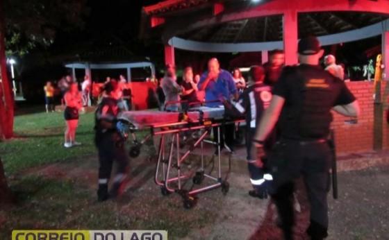 Segurança é baleado na cabeça no balneário de Santa Helena