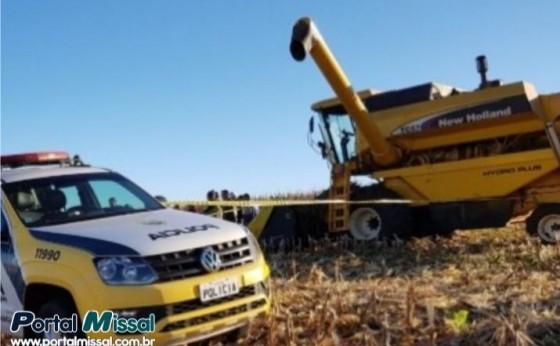 Serranópolis: Adolescente de 15 anos morre após ser atropelado por maquinário agrícola