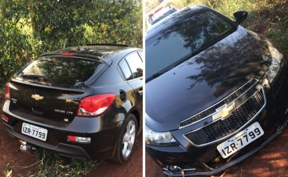 Veículo Cruze roubado em Medianeira e recuperado pela PM de Itaipulândia